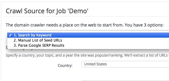 Building a seed list by keyword with PBN Lab