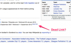 Crawling Wikipedia for Dead Links? You're not alone.